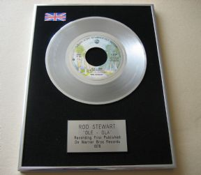 ROD STEWART - OLE - OLA PLATINUM single presentation DISC